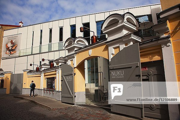 Nuku puppet theatre and museum in the old town Tallinn  Estonia  Baltic States  Europe.