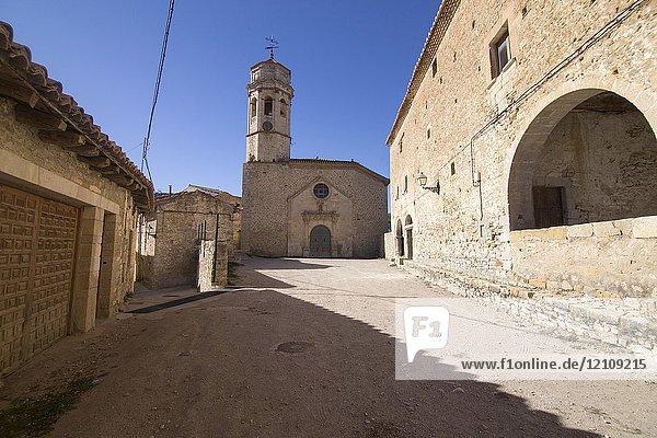 La Canyada de Benatanduz Medieval architecture Maestrazgo county. Teruel  Aragon  Spain.