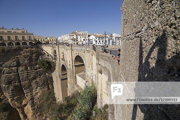 Ronda Bridge Malaga province   Andalusia  Spain.