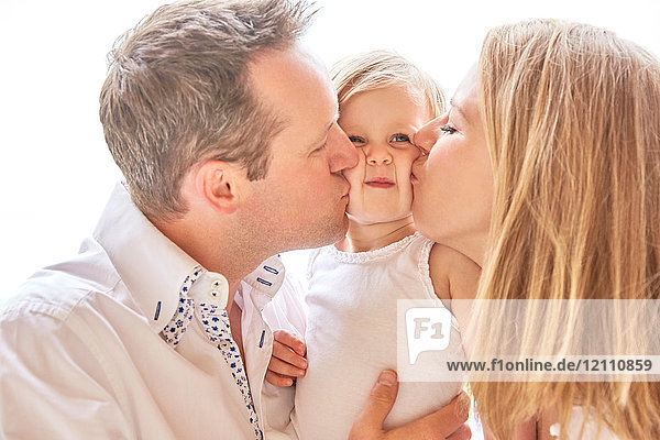 Couple with baby daughter