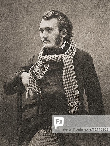 Portrait of French artist Paul Gustave Louis Christophe Doré  1832-1883  taken circa 1855 by French photographer Gaspard-Félix Tournachon  1820-1910  better known by his pseudonym Nadar.