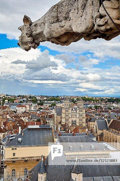 Saint-Michel church  La Nef  Tour Phillippe Le Bon  Dijon  Côte d'Or  Burgundy Region  Bourgogne  France  Europe