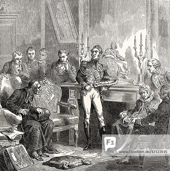 The Jesuits at the court of Charles X Philippe  1757-1836  King of France.
