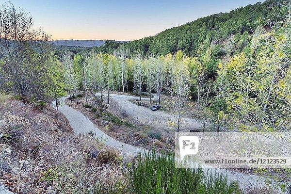 Road to Pajarero's dam. Avila. Spain