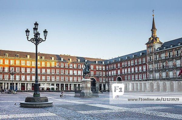 Plaza Mayor (Main Square). Madrid. Spain.