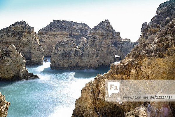 Ponta da Piedade reef in Lagoa Algarve Portugal.