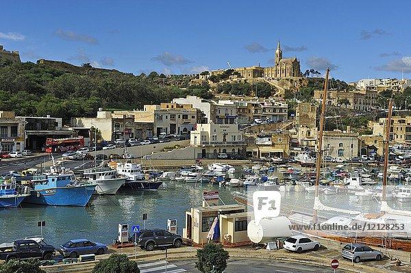Harbour of Mgarr  Gozo Island  Malta  Mediterranean Sea  Southern Europe.