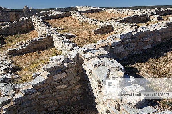 Pueblo ruins  Gran Quivera Unit  Salinas Pueblo Missions National Monument  New Mexico.