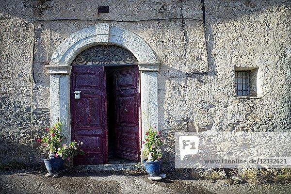 Typical town house  Santo-Pietro-di-Tenda  Corsica  France.