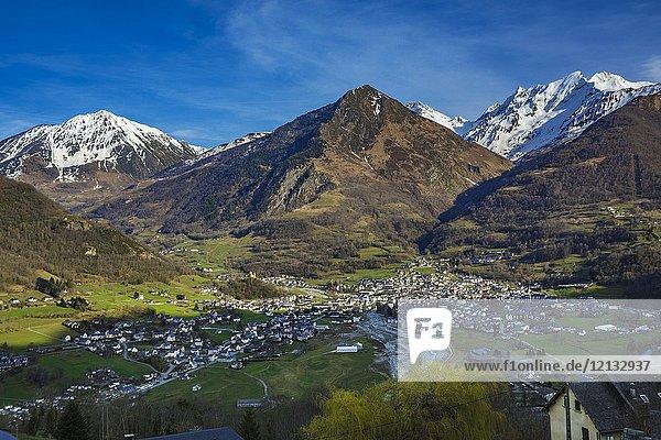 Luz-Saint Sauveur. Argeles- Gazost district. Luz-Saint Sauveur Canton. Hautes-Pyrenees Department. Midi-Pyrenees Region. France.