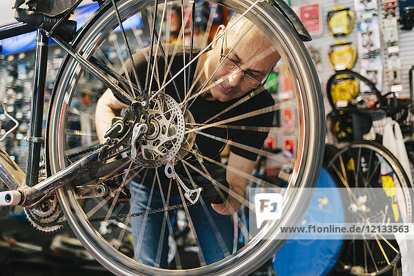 Kleinunternehmer im Fahrradgeschäft