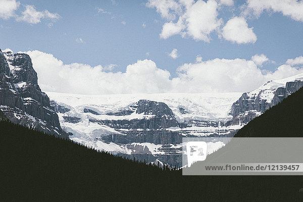 Scenic view of snow on mountain range