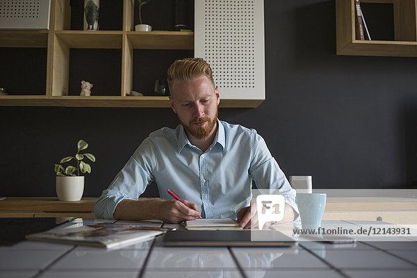 Freiberuflicher Unternehmer  der zu Hause arbeitet