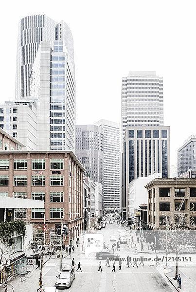 USA  Kalifornien  San Francisco  Hochhäuser  Verkehr