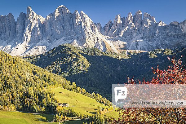 Santa Magdalena  Funes valley. Puez Odle Natural Park  South Tyrol  Italy.