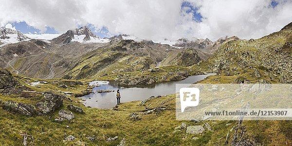Egesensee  Wilde Wasser Weg  Stubaital  Neustift am Stubaital  Innsbruck Land  Tirol  Tyrol  Austria  Europe.