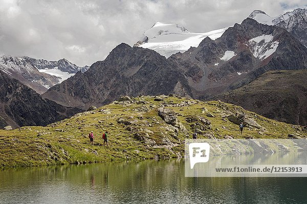 Mutterbergersee  Wilde Wasser Weg  Stubaital  Neustift am Stubaital  Innsbruck Land  Tirol  Tyrol  Austria  Europe.