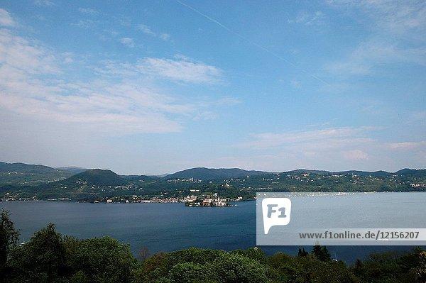 San Giulio island on Lake Orta.