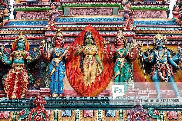 Sri Veeramakaliamman Hindu Temple. Hindu deities.