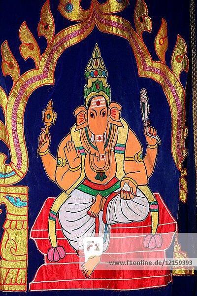 Sri Mariamman Hindu temple. Ganesha.
