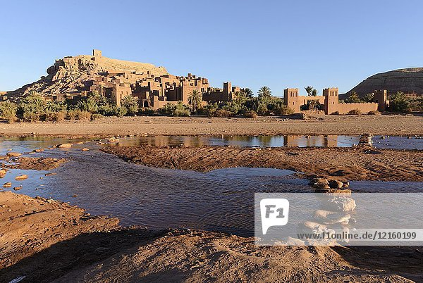 The Ksar of Ait-Ben-Haddou at sunrise  Aït Benhaddou  Morocco  Africa.