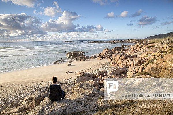 Forcados Point Beach  Costa de la Muerte  Galicia  Spain.