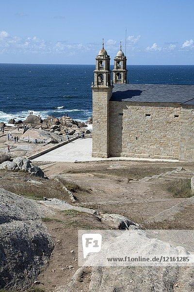 Our Lady - Nosa Senora of Barca Church  Muxia  Fisterra  Costa de la Muerte  Galicia  Spain.