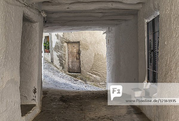 Street and houses in Pampaneira  Alpujarras  Spain.