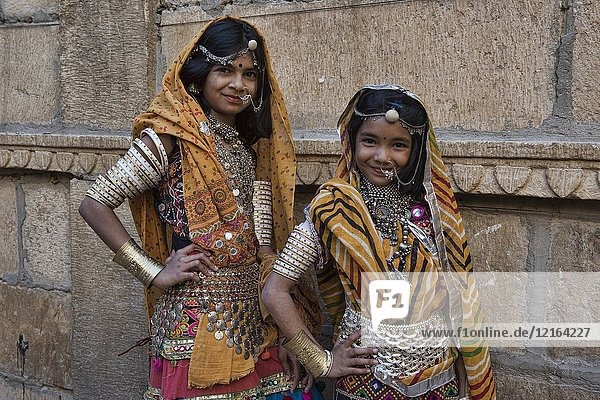 Rajasthani beauties  Jaisalmer  Rajasthan  India.