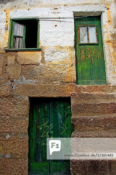 House with green doors  Amarante  Portugal