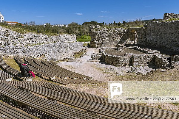 Baths of the Aqueduct  Ruins of the Roman city of Conimbriga  Coimbra District  Baixo Mondego  Centro Region  Portugal  Europe.