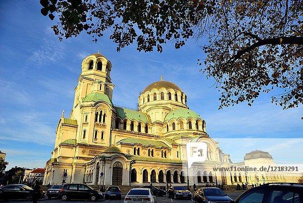 Alexander Nevski cathedral-monument in Sofia  Bulgaria.