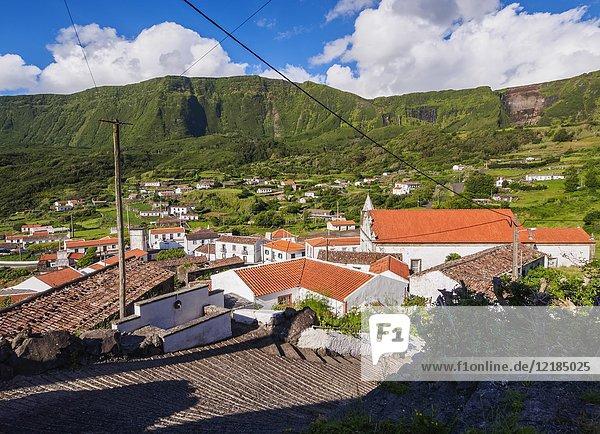 Fajazinha  elevated view  Flores Island  Azores  Portugal.
