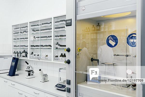 Einrichtung eines Labors in einer Apotheke