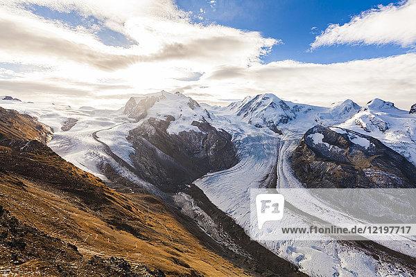 Schweiz  Wallis  Zermatt  Monte Rosa  Monte Rosa-Massiv  Monte Rosa-Gletscher  Grenzgletscher  Gornergletscher