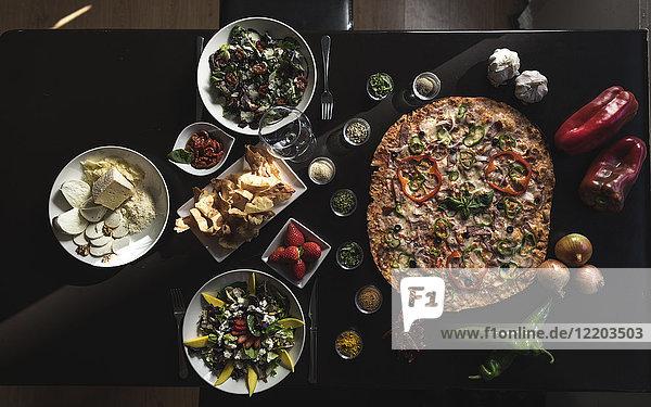 Italian food,  pizza,  salads and snacks
