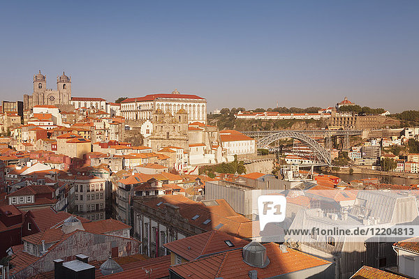 Ribeira District  UNESCO World Heritage Site  Se Cathedral  Palace of the Bishop  Ponte Dom Luis I Bridge  Porto (Oporto)  Portugal  Europe