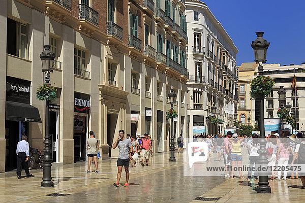 Marques de Larios Street  Malaga City  Andalusia  Spain  Europe