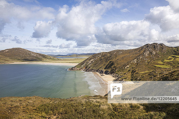 Trannarosa Bay and Melmore Head  part of the Wild Atlantic Way  County Donegal  Ulster  Republic of Ireland  Europe