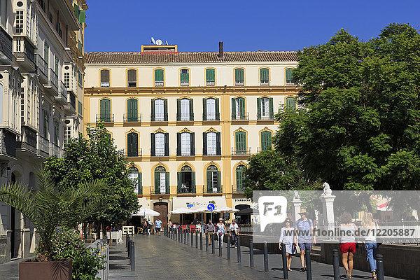 Merced Square  Malaga City  Andalusia  Spain  Europe