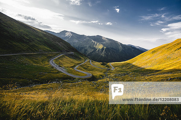 Bergtal-Landschaft  Draja  Vaslui  Rumänien