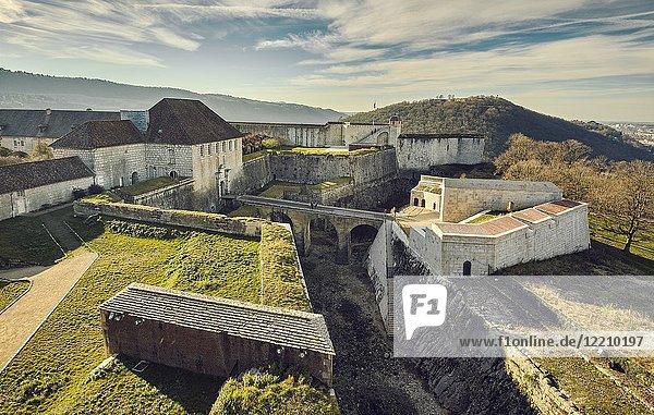 The Citadel of Besançon  a 17th-century fortress designed by Vauban for Louis XIV. UNESCO World Heritage Site. Besançon. Doubs. Bourgogne-Franche-Comte. France.