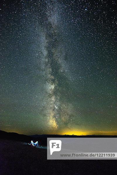 Die Milchstraßengalaxie  Apex Mountain Resort  Penticton  Britisch-Kolumbien  Kanada