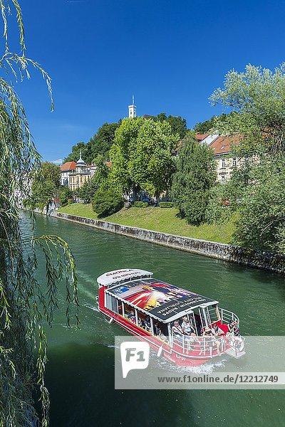 River Ljubljanica  Ljubljana  Slovenia  Europe.