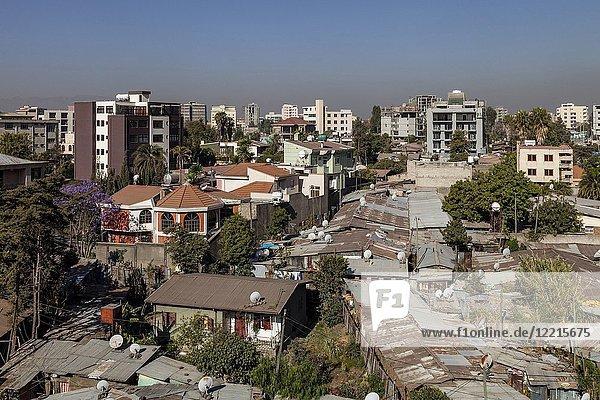 A Slum District Of Addis Ababa  Ethiopia.
