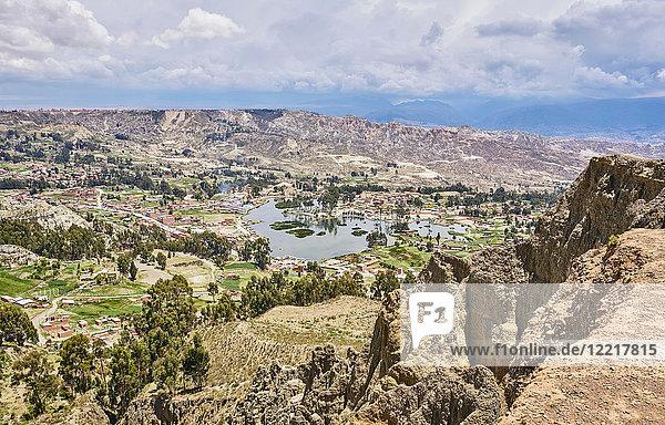 Scenic view  La Paz  Bolivia  South America