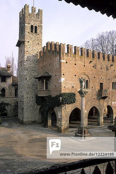 The medieval village of Grazzano Visconti  Emilia Romagna  Italy