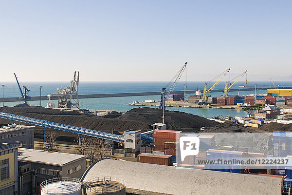 Seaport  Genoa  Italy