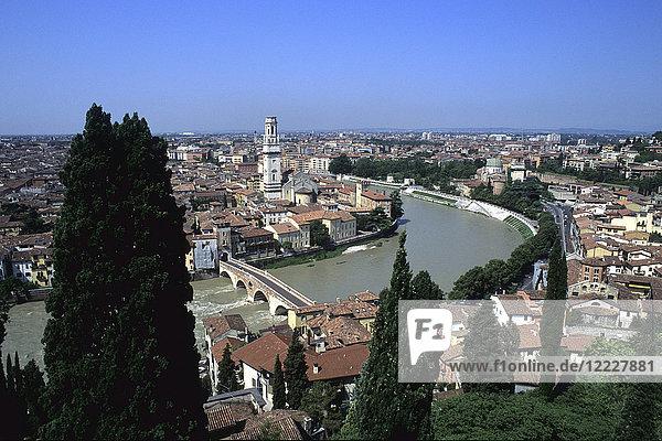Italy  Veneto  Verona  view from the Lamberti Tower