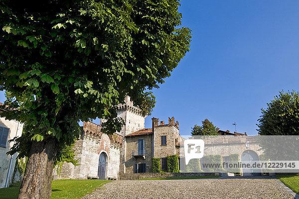 Visconti San Vito castle  Somma Lombardo  Varese province  Lombardy  Italy